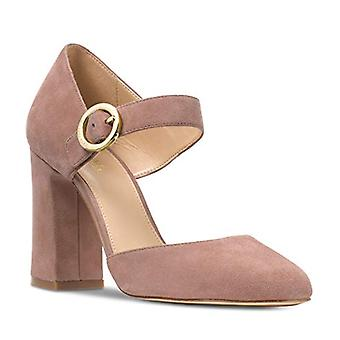 Michael Michael Kors Womens Alana Closed Toe Suede Round Toe Ankle Strap Clas...