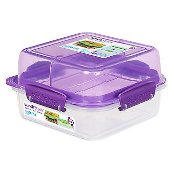Sistema vierkante lunch stack Square 1.24 L, paars