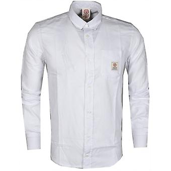 Franklin & Marshall Ca297 Martins Long Sleeve White Shirt