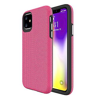 Dla iPhone 11 Obudowa Armor Shockproof Strong Protective Light Slim Cover, Różowy
