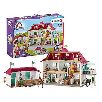 Schleich Horse Club Large Horse Stable with House & Stable Playset