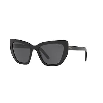 Prada SPR08V 1AB5S0 Black/Grey Sunglasses