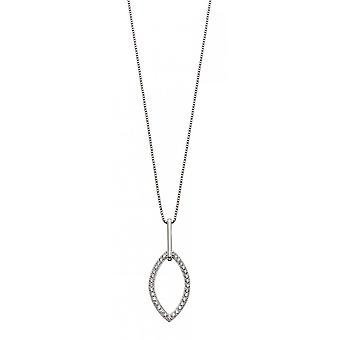 Fiorelli Silver & Clear Cz Double Navette Hanger