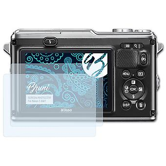 Bruni 2x Schutzfolie kompatibel mit Nikon 1 AW1 Folie
