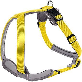 Hunter Neopren Hundegeschirr gelb und grau (Hunde , Für den Spaziergang , Geschirr)