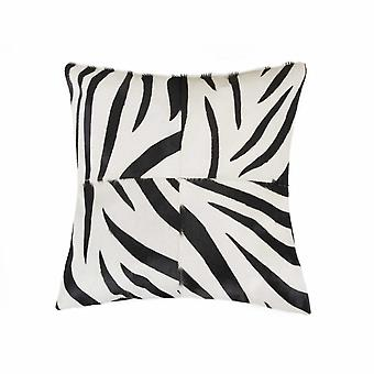 "18"" x 18"" x 5"" Zebra Black On White Quattro - Pillow"