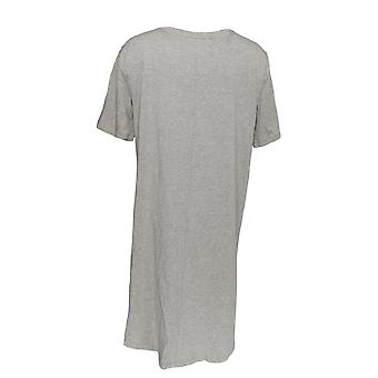أي شخص المرأة & s Sleepshirt دافئ متماسكة حلم على مرحبا لو رمادي A307914