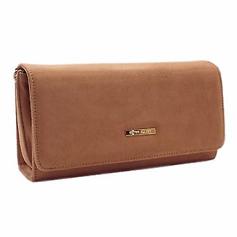 Peter Kaiser Lanelle Clutch Bag In Biscotti Suede