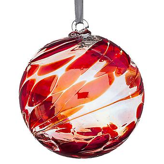 Sienna Glass 10cm Friendship Ball, 40th Wedding Anniversary Ruby