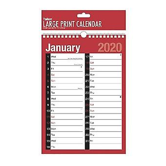 Tallon Two Column Hanging 2020 Planners (Pack Of 12)