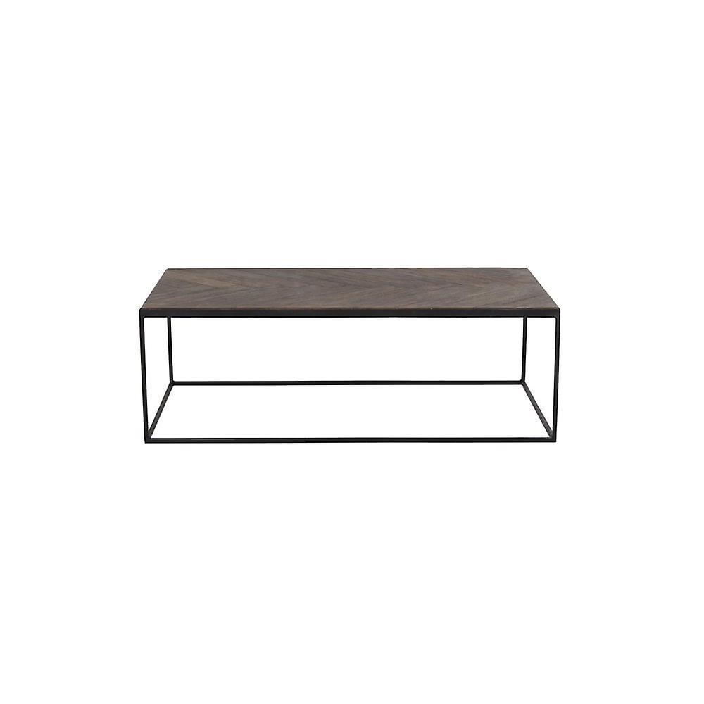 Table de café légère et vivante 120x65x40cm Chisa Wood Brown-Black