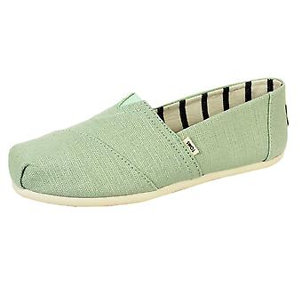 Toms women's mint classic heritage canvas shoes