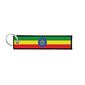 Port Cles Key Cle Homme Homme Fabric Brode Prints Ethiopian Flag