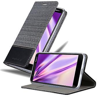 Cadorabo tapauksessa Nokia 3.1 2018 tapauksessa tapauksessa kansi - puhelin kotelo magneettilukko, seistä toiminto ja korttiosasto - Case Cover Suojakotelo Tapauksessa Kirja Folding Style