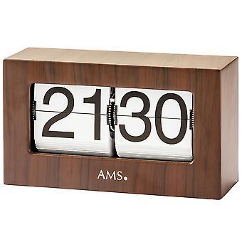 AMS 1177 taulukko kellon puu näyttää walnut väri taitettava luvut taitettava numerot kvartsikello