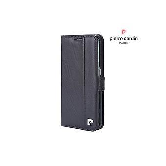 Pierre Cardin Leather Bookcase Case Samsung Galaxy S6 bord - Bordeaux rouge
