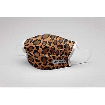 Suu naamio Leopard Leo Jag pestävä naamio suojanaamio ecotex Leomaske