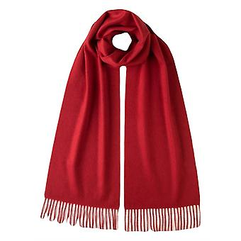 Johnstons of Elgin Plain Woven Cashmere Scarf - Classic Red