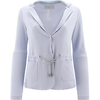 Fabiana Filippi Gcd270w511a7575121 Feminino's Blazer de Algodão Azul Claro