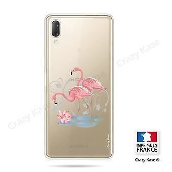 Rumpf für Sony Xperia L3 Soft Flamingo Rose