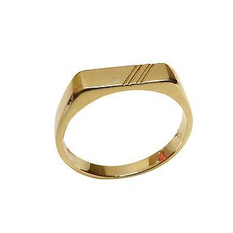 14 carat yellow gold cachet ring