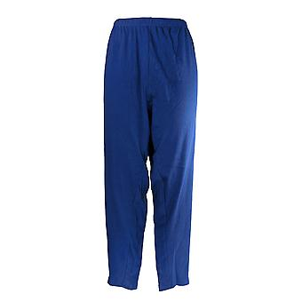 North Style Women's Plus Pajama Pants Ankle Length Blue
