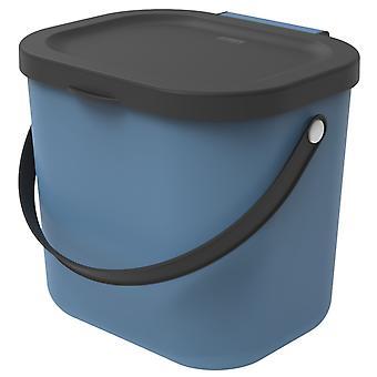 ROTHO Recycling Waste System ALBULA 6 l Blauw | Compostemmers voor meer duurzaamheid in huis