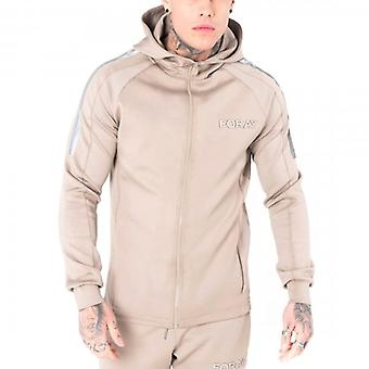 Foray Page Poly Zip Up Hoody Stone