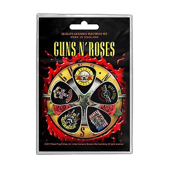 Guns N Roses Plectrum Pack bullet Band logo uusi virallinen 5 Pack Guitar Picks