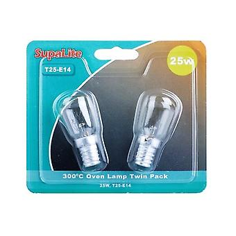 SupaLite 25W T25-E14 Oven Lamps (Pack Of 2)