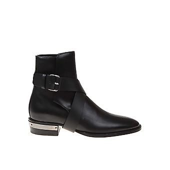Balmain Um1c1c188lmsk0pa Men's Black Leather Ankle Boots