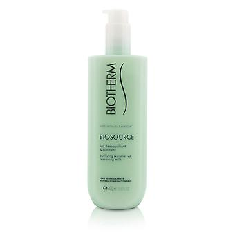 Biosource purifying & make up removing milk for normal/combination skin 206217 400ml/13.52oz