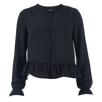 Mujer's Vero Moda Isabella Mini Camiseta de cuello en V en negro