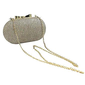 Oval Evening Bag with Glitter
