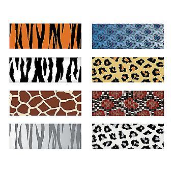 12 Wild Animal Print Blyanter med Viskelær for Party Bag Gaver