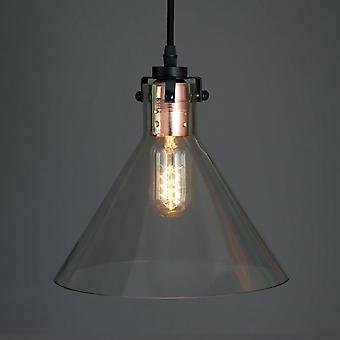 Amber Bright Vintage hängande hängande ljus minimalistisk design (ingen glödlampa)