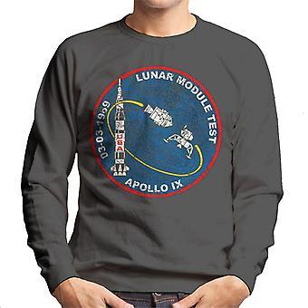 NASA Apollo 9 Mission Badge Distressed Men's Sweatshirt