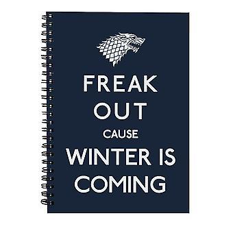 Freaking Winter Juego de Tronos Cuaderno Espiral