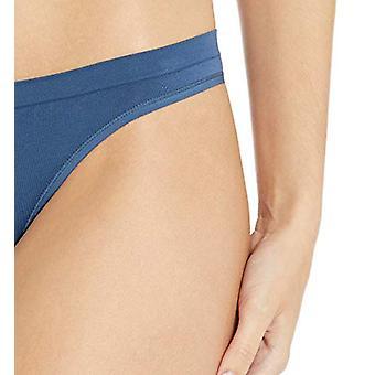 Brand - Mae Women's Seamless Thong, 5 pack,Charcoal Grey Tie Dye/Blak/...