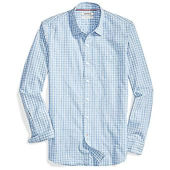 Goodthreads Men's Slim-Fit Langarm Multi Stripe Kariert Shirt, blau/blau, X...