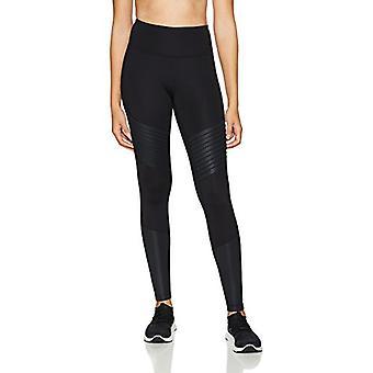 Brand - Core 10 Women's Icon Series - The Dare Devil Legging, Black/Bl...