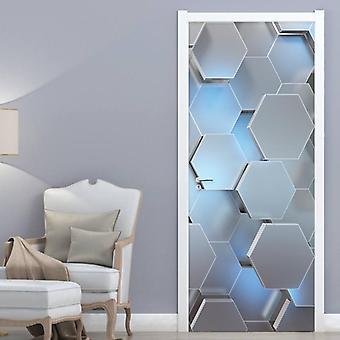 Moderne 3d Stereo Geometrische Deur Muurschildering Pvc Zelf Lijm Waterdichte Muur Sticker