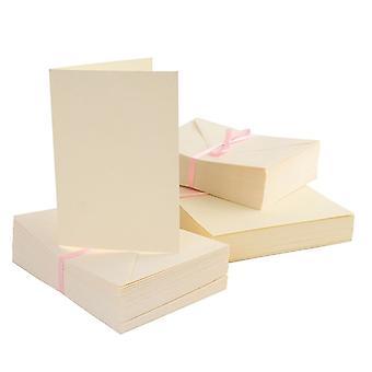 Anita's A6 -kortit & Kirjekuori kerma (100pk) (ANT 1511001)