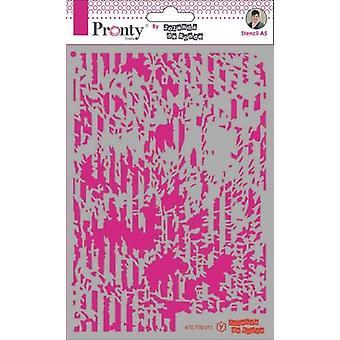 Pronty Crafts Grunge Lines Por Jolanda A5 Stencil