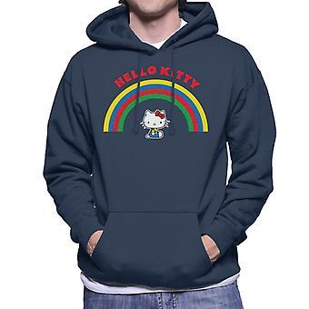 Hello Kitty Under The Rainbow Miehet&s Hupullinen Collegepaita