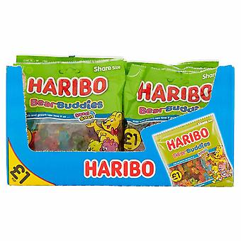 HARIBO Bear Buddies 1.92kg, bulk sweets, 12 packs of 160g