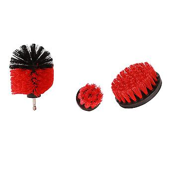 3 pieces set 2/3.5/4 inch All Purpose Drill Brush (Red)