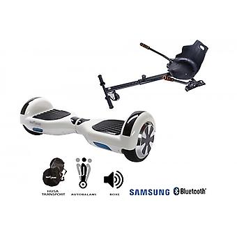 Paketti Hoverboard Regular White Pearl + Hoverseat