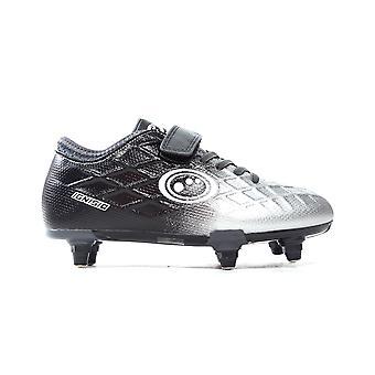 Optimum Ignisio Easy Fasten Kids SG Soft Ground Football Boot Black/Silver