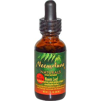 NeemAura, Neem Leaf, 3X Concentration, Extract, 1 fl oz (30 ml)